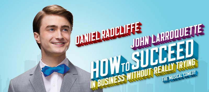 how to suceed in business without really trying broadway musical revival danielle radcliffe harry potter poster banner free ticket contest giveaway win