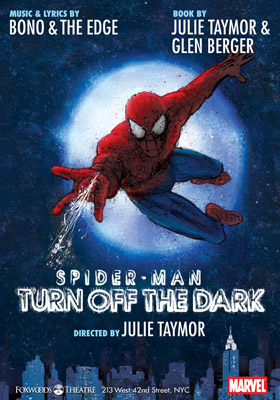 spiderman spider man broadway musical poster peter parker julie taymor bono edge u2