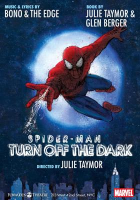 spiderman spider man broadway musical poster peter parker julie taymor bono edge u2