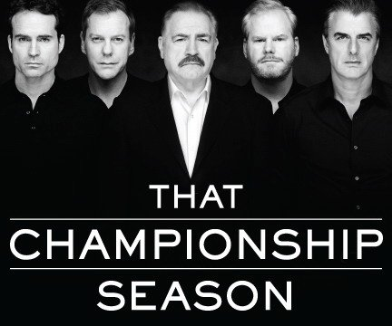 that championship season kiefer sutherland jason patric brian cox chris noth jim gaffigan jason miller broadway play poster art