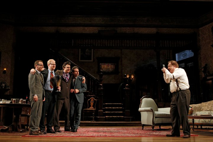that championship season broadway play scene picture jason patric kiefer sutherland brian cox jim gaffigan chris noth