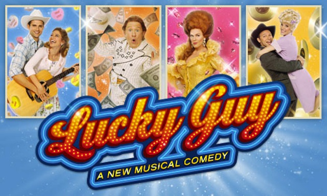 lucky guy musical off broadway banner poster