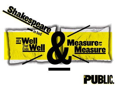 shakespeare in the park poster public theater all's well that ends well measure for measure new york