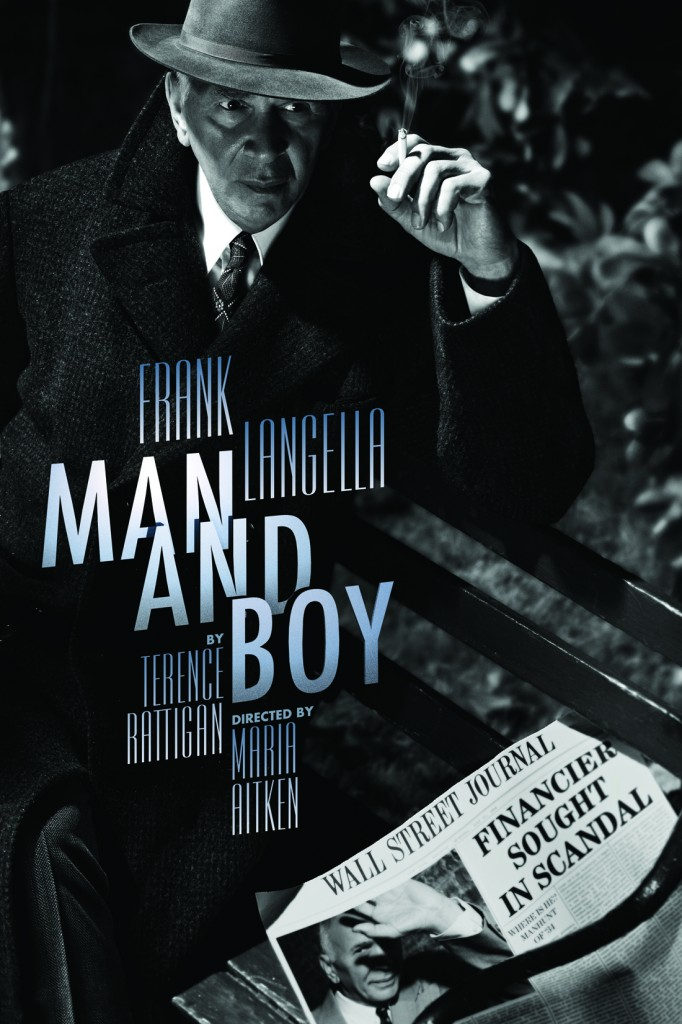 man and boy broadway play poster frank langella