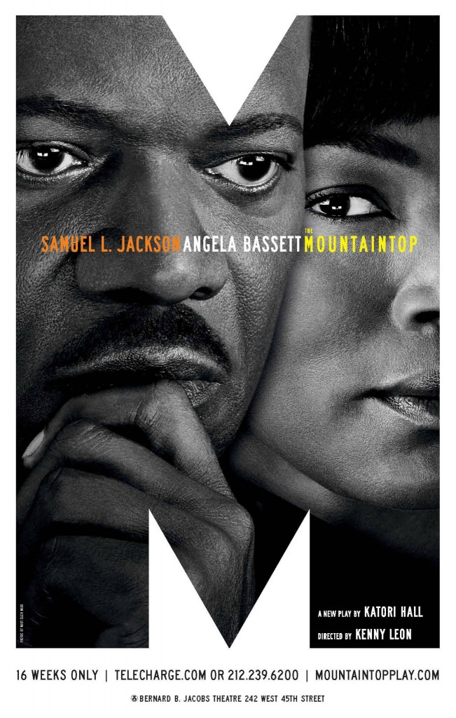 mountaintop broadway play poster samuel l jackson angela bassett