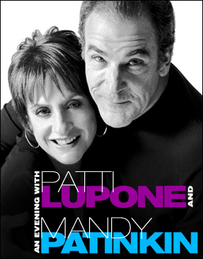 patti lupone mandy patinkin broadway concert poster