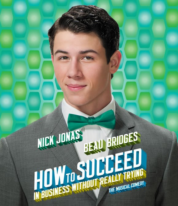 nick jonas brothers how to succeed in business without really trying broadway poster