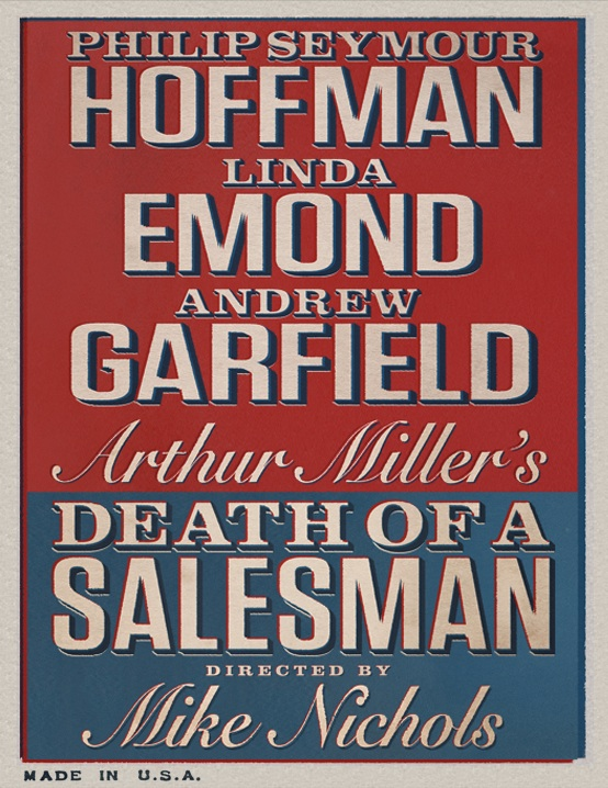 death of a salesman broadway play poster phillip seymour hoffman andrew garfield linda emond
