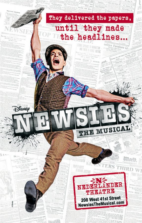 broadway newsies disney poster jeremy jordan
