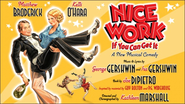 nice work if you can get it broadway poster matthew broderick kelli o hara