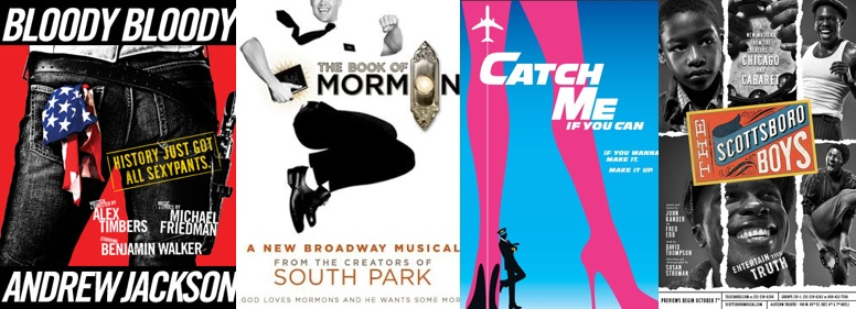2011 tony award nominee predictions best musical book of mormon catch me if you can bloody andrew jackson scottsboro boys