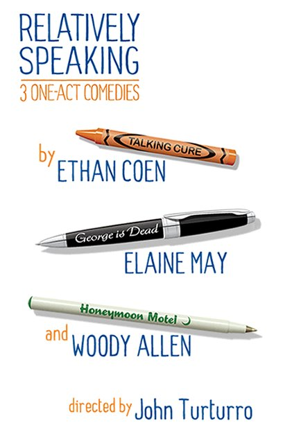 relatively speaking broadway play poster woody allen ethan cohen elaine may
